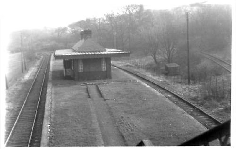 Glenfield Station before Glenburn housing scheme was built  - GH Robin