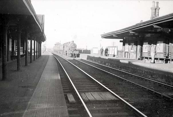main Barrhead station in the 1950s.