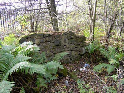 Wall at site of Dykebar station