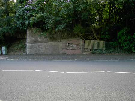 Remains of a bridge   on Hawkhead Road