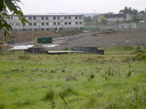 Bridge in field, probably part of siding.  Dykebar station was to the right.  St. Andrews school can be seen at the back