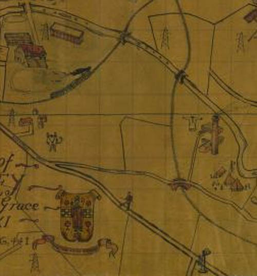 jenn'ys well scout map 1931. The railway bridges over river Cart  and Jenny's well road can be seen