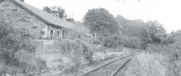 Potterhill station in 1955 - copyright Stansfield (1999). Ayrshire & Renfrewshire's Lost Railways